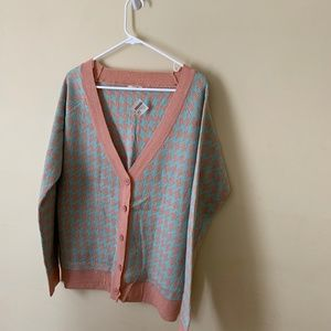 Cardigan Sweater Button Front Multi Color